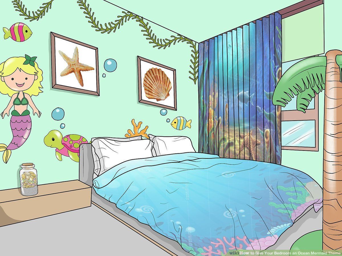 Little Mermaid Bedroom Decor Awesome How to Give Your Bedroom An Ocean Mermaid theme 12 Steps