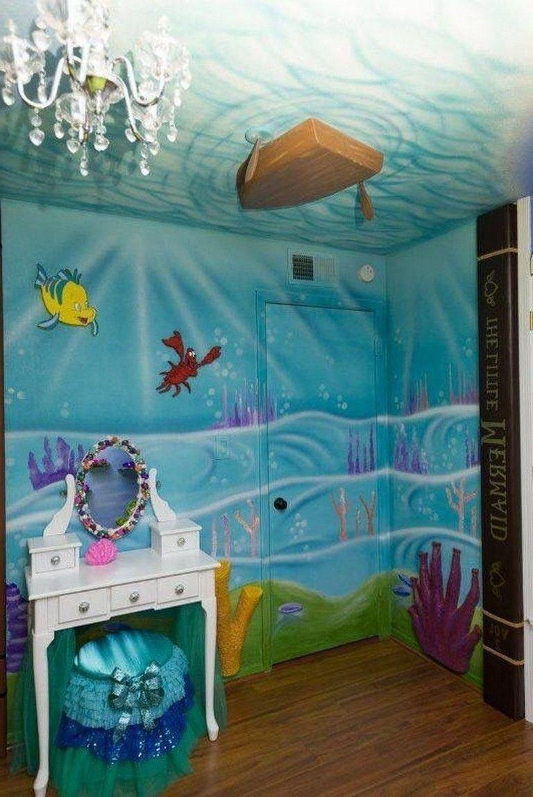Little Mermaid Bedroom Decor Beautiful 55 Amazing Mermaid themes Ideas for Children Kids Room