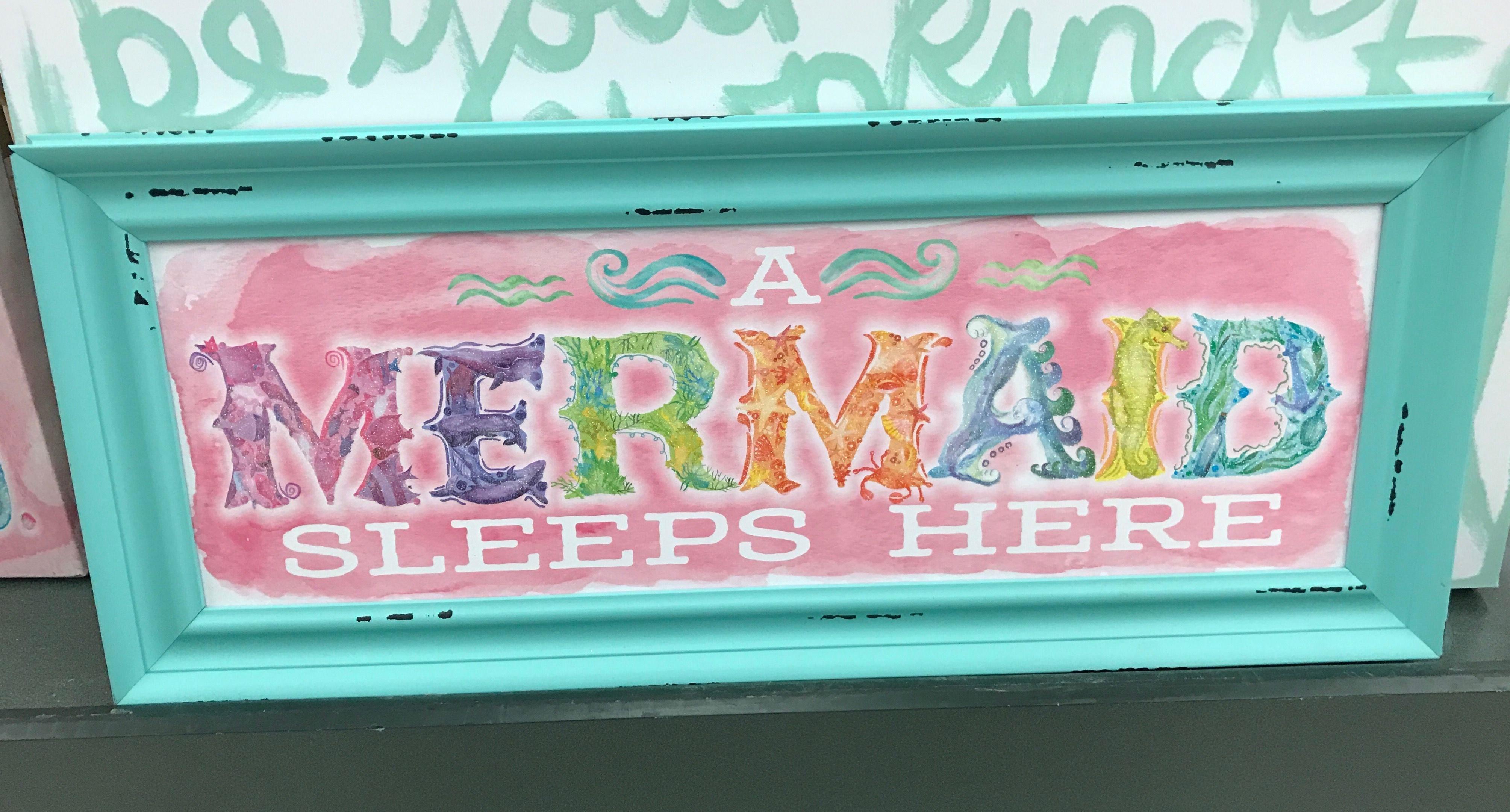 Little Mermaid Bedroom Decor Fresh Mermaid Decor From Hobby Lobby In 2020
