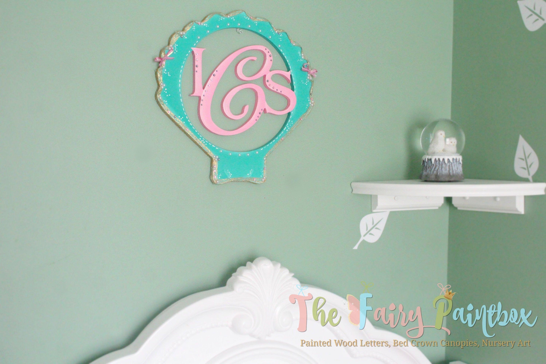 Little Mermaid Bedroom Decor Fresh Shell Nursery Wall Monogram Mermaid Monogram Wall Hanging