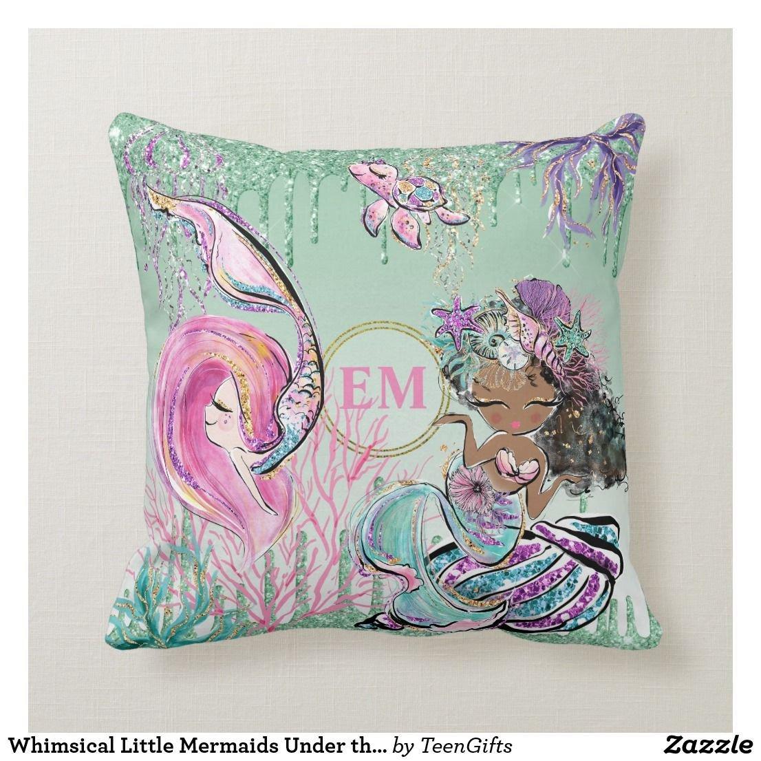 Little Mermaid Bedroom Set Best Of Whimsical Little Mermaids Under the Sea Monogram Throw