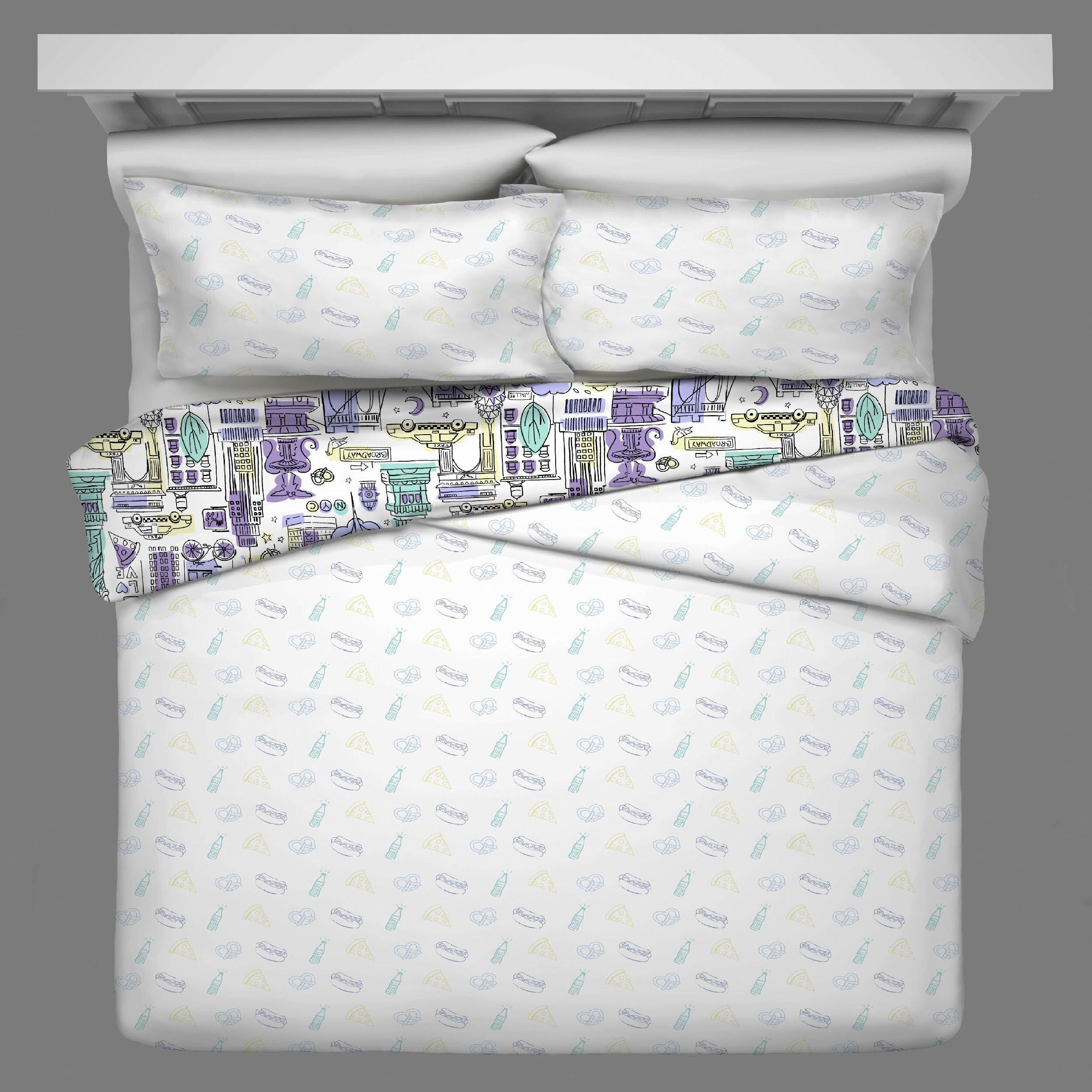 Little Mermaid Bedroom Set New Spree Cityscape Reversible forter Set
