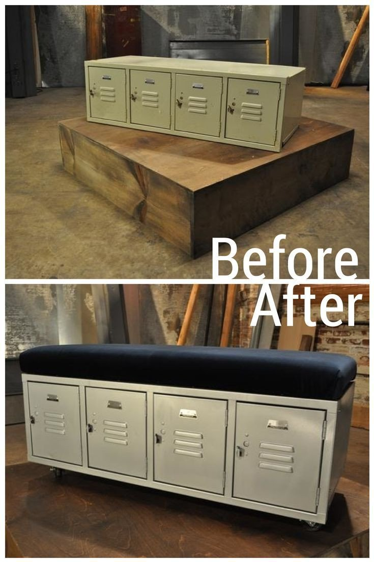 Lockers for Bedroom Storage Beautiful Diy Gym Lockers Makeover Into Bench Seating Great Storage