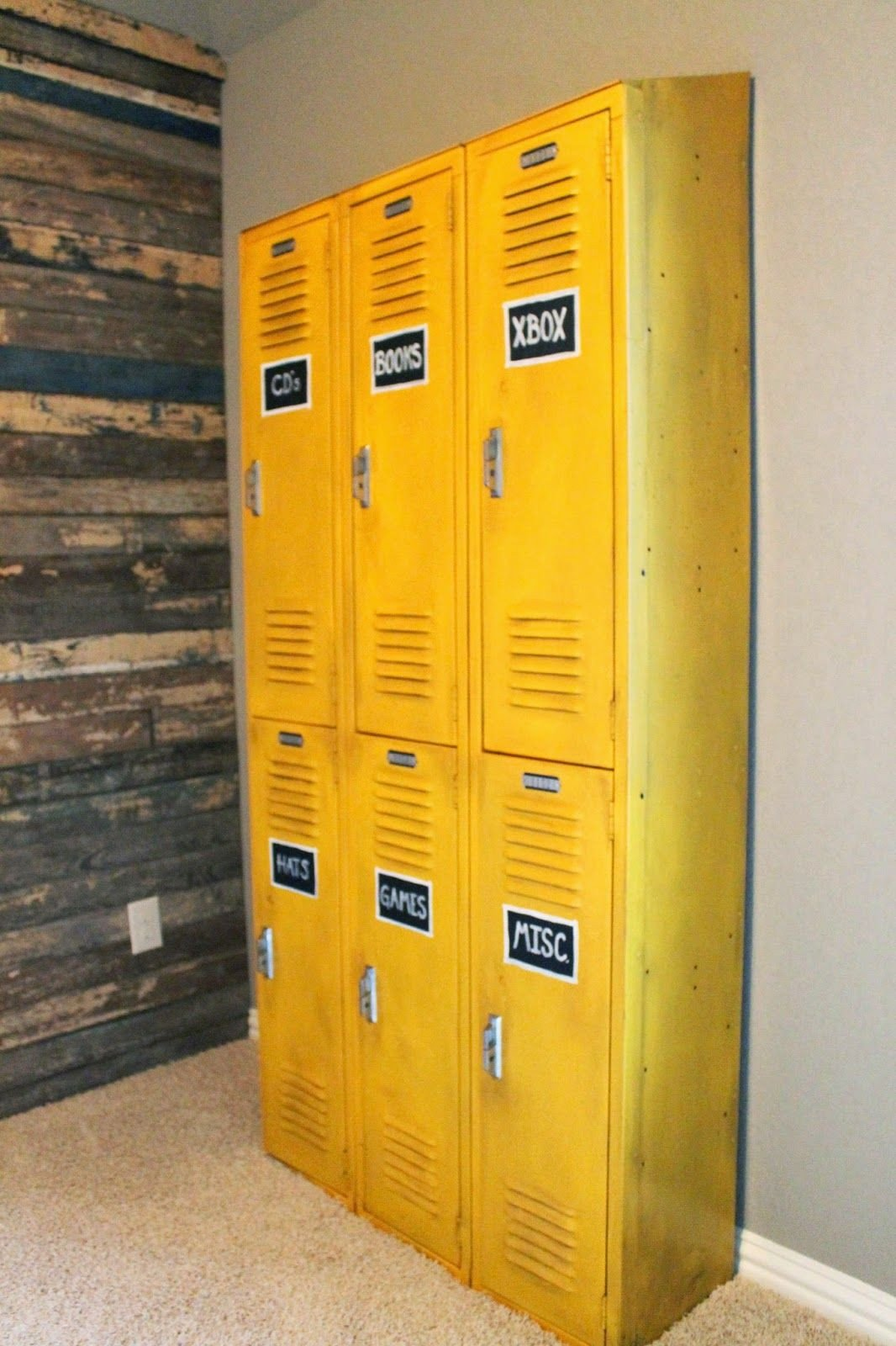 Lockers for Bedroom Storage New Vintage Lockers Painted with A Glaze to tone Down the