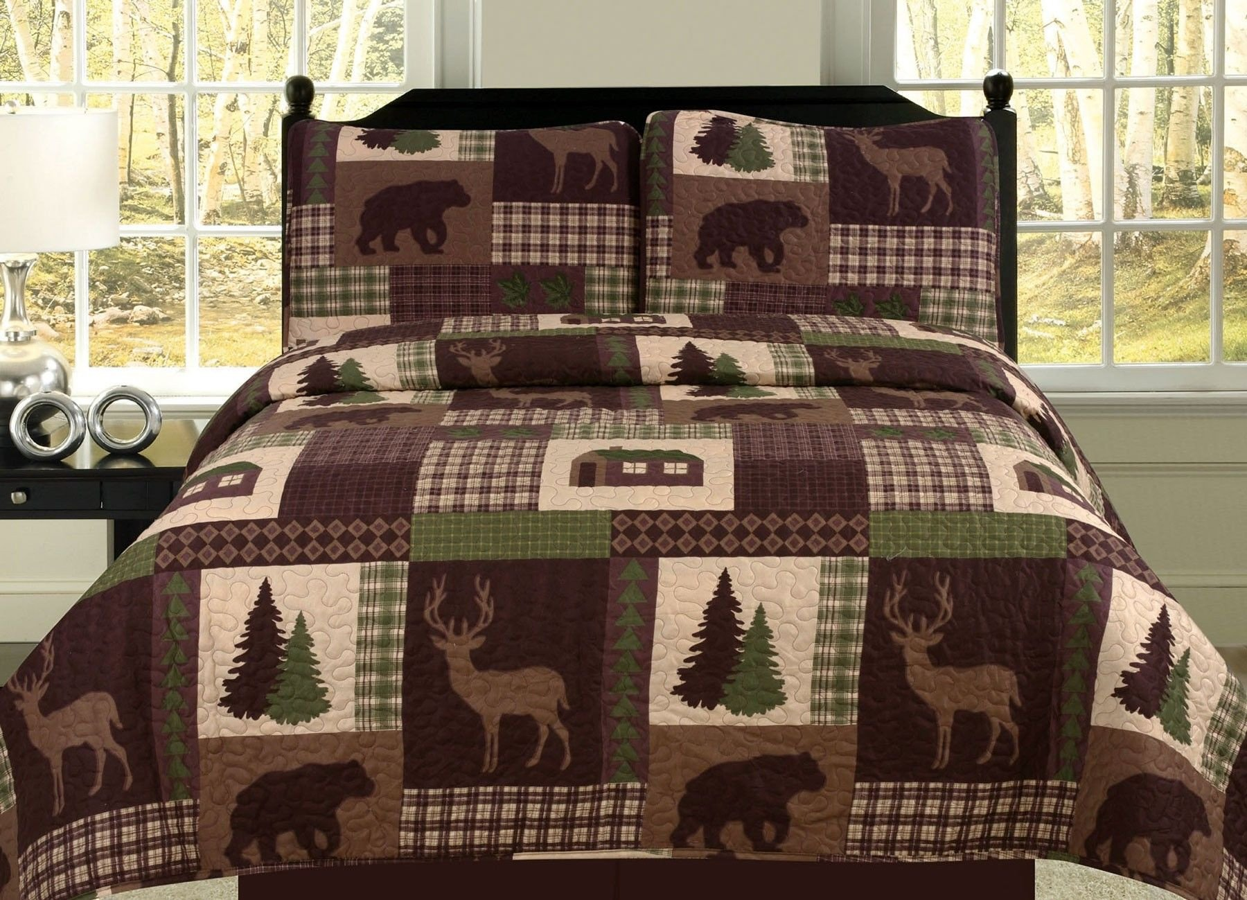 Log King Size Bedroom Set Lovely Beatrice Cozy Cabin Full Queen Quilt 3 Piece Set Rustic