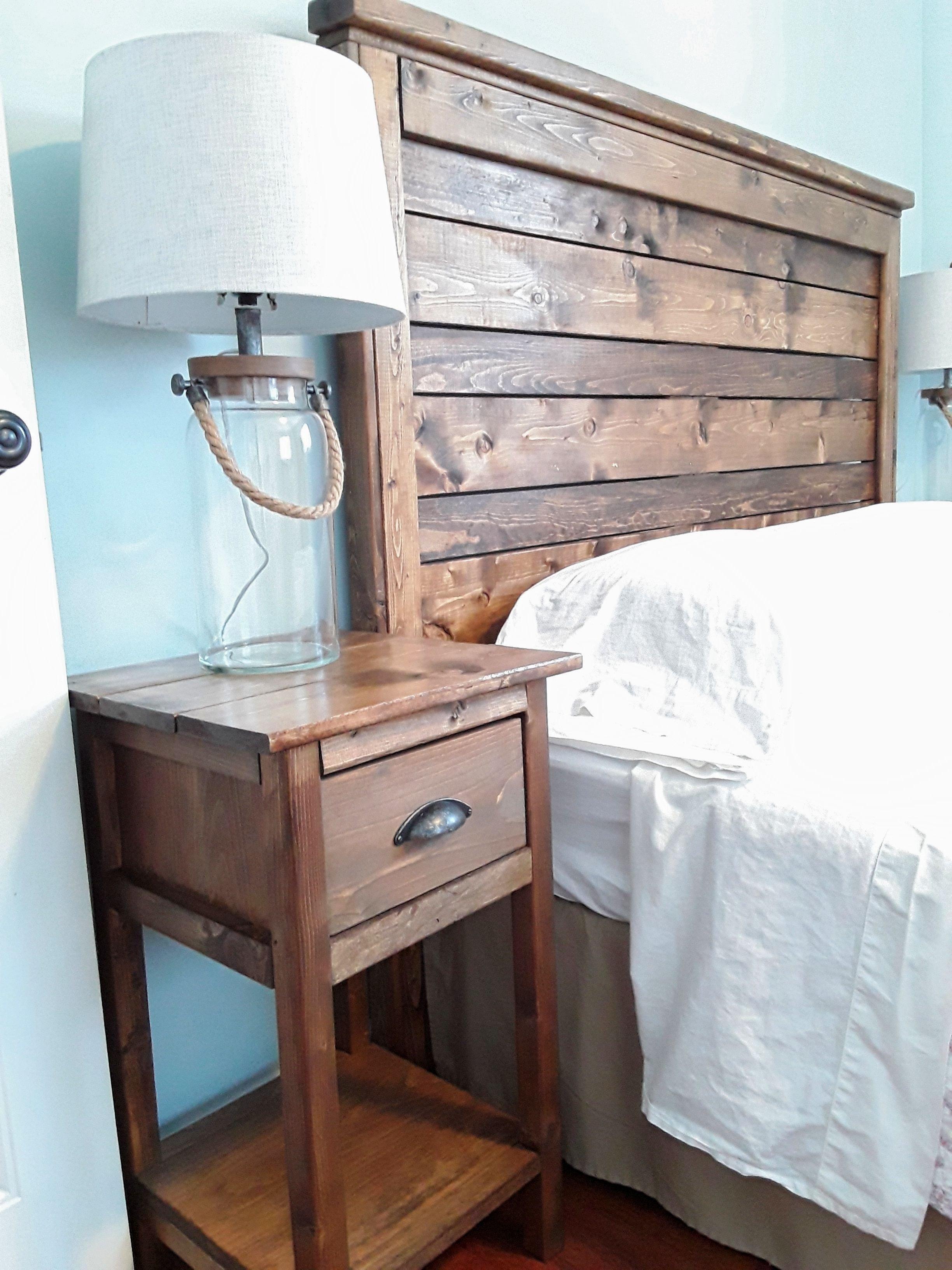Log King Size Bedroom Set New Diy Rustic Wood Headboard and Nightstand