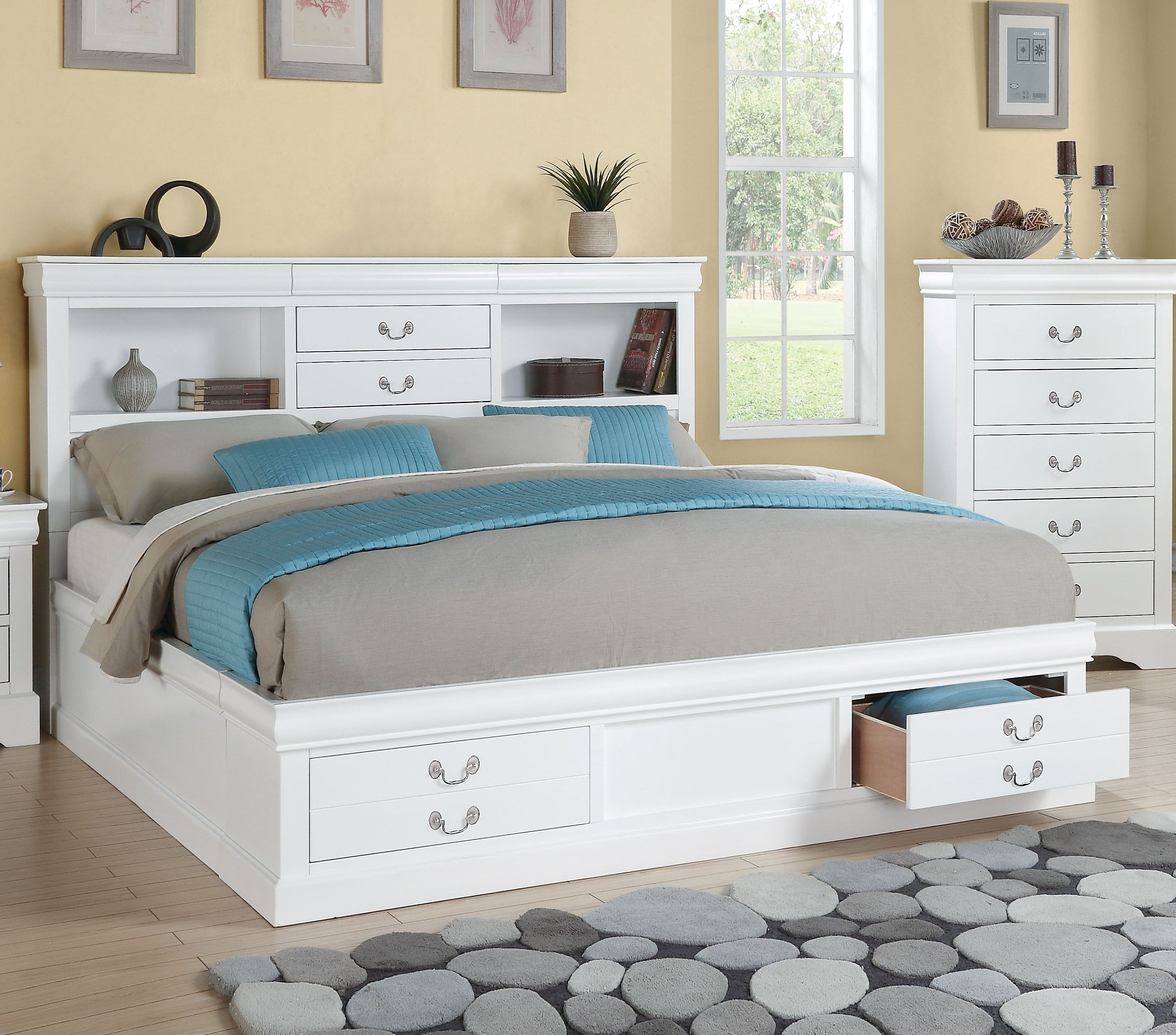 Louis Philippe Bedroom Set Elegant Acme Furniture Louis Philippe Iii White King Storage Bed