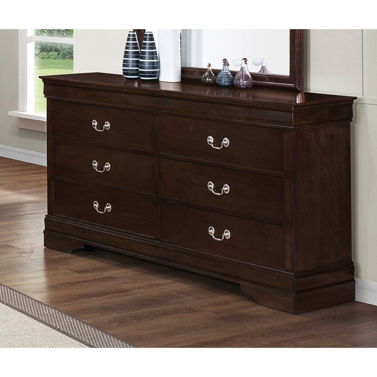 Louis Philippe Bedroom Set Inspirational Louis Philippe Warm Brown 4 Piece Bedroom Set