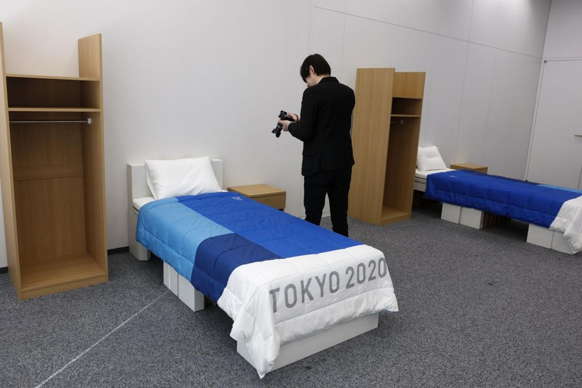 Low Profile Bedroom Set Luxury An Olympic First Cardboard Beds for tokyo athletes Village