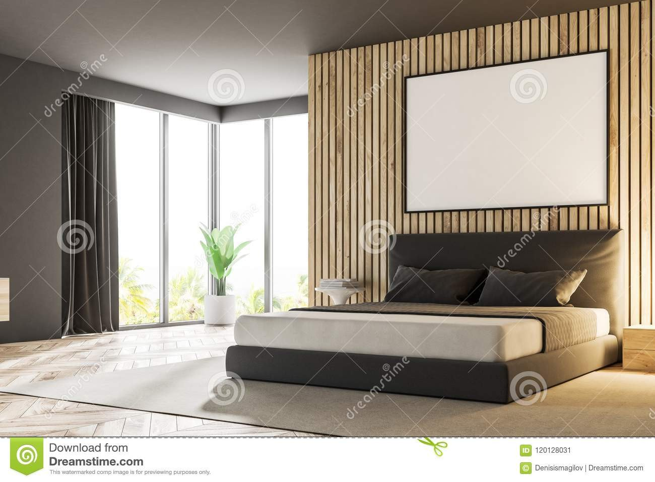 Luxury Master Bedroom Furniture Fresh Wood Master Bedroom Corner Poster Stock Illustration