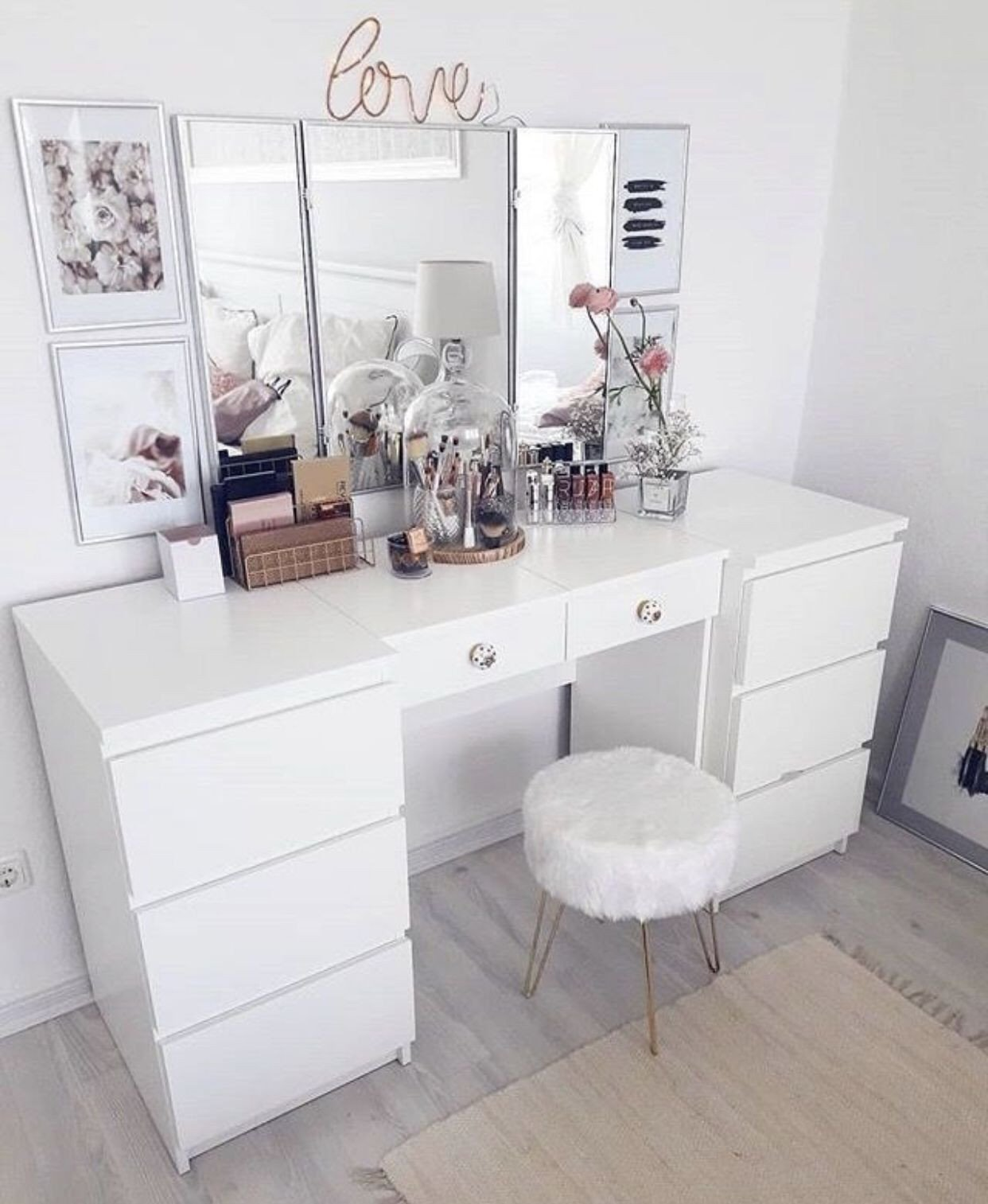 Make Up Vanity for Bedroom Fresh Pinterest