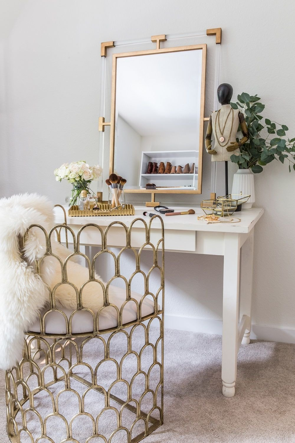 Make Up Vanity for Bedroom New White Glam Makeup Vanity