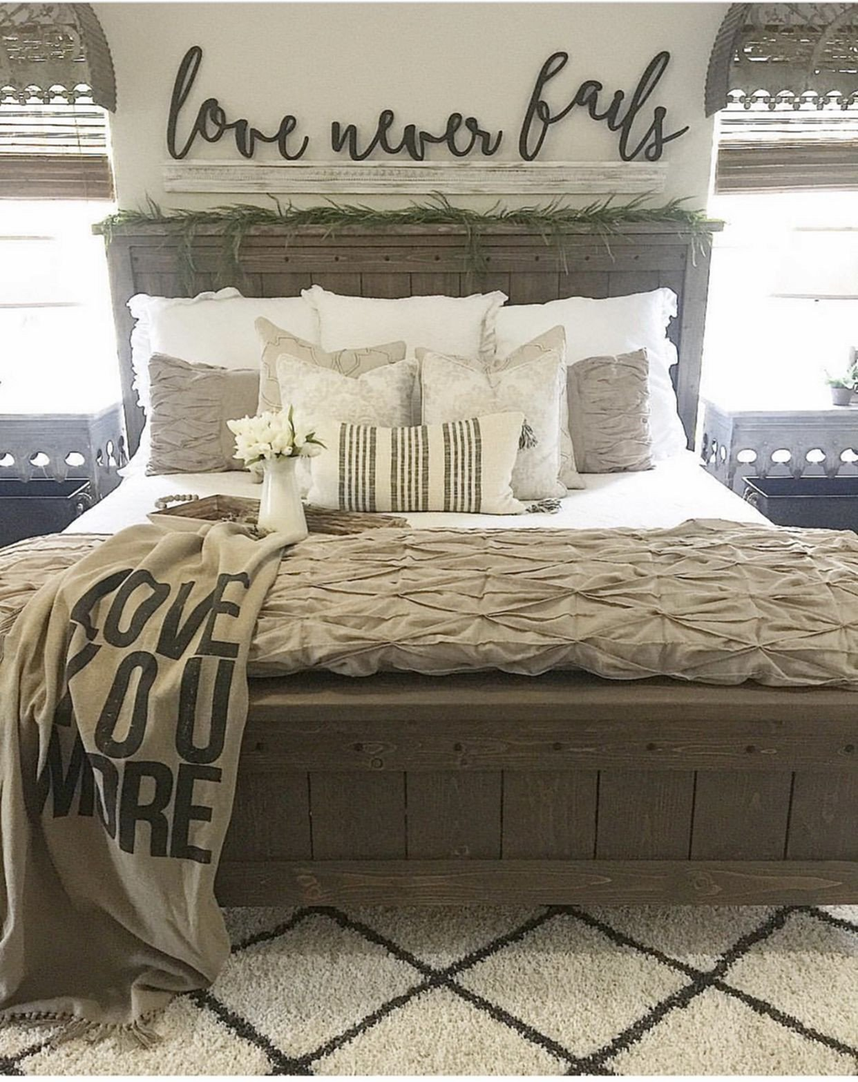 Master Bedroom Bedding Ideas Inspirational Farmhouse Bed 1327