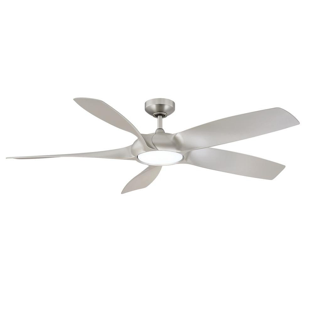 Master Bedroom Ceiling Fans Inspirational Designer S Choice Collection Blade Runner 54 In Led Satin Nickel Ceiling Fan with Dc Motor