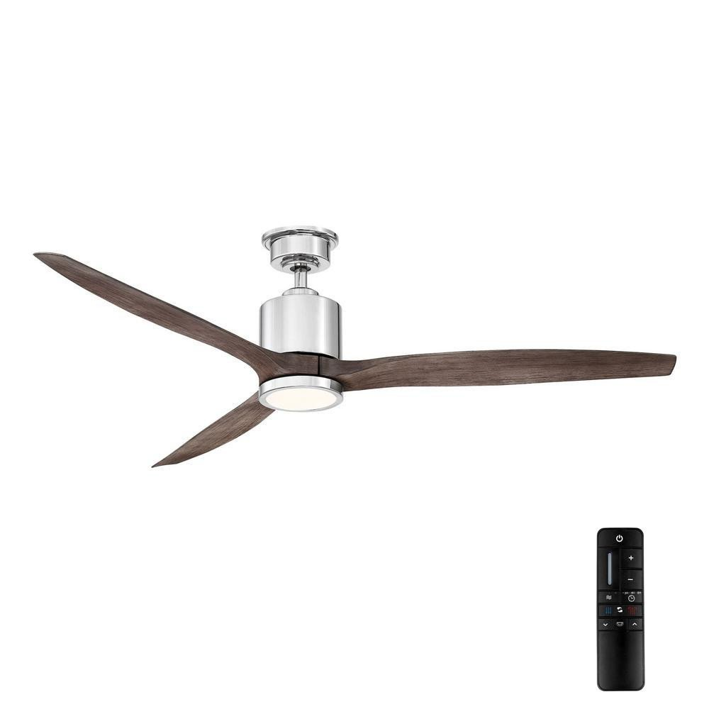 Master Bedroom Ceiling Fans Lovely Home Decorators Collection Triplex 60 In Led Polished Nickel Ceiling Fan with Light