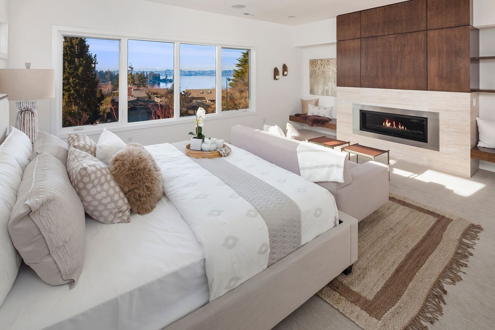 Master Bedroom with Fireplace Awesome An Elegant Master Bedroom In A Contemporary Modern New