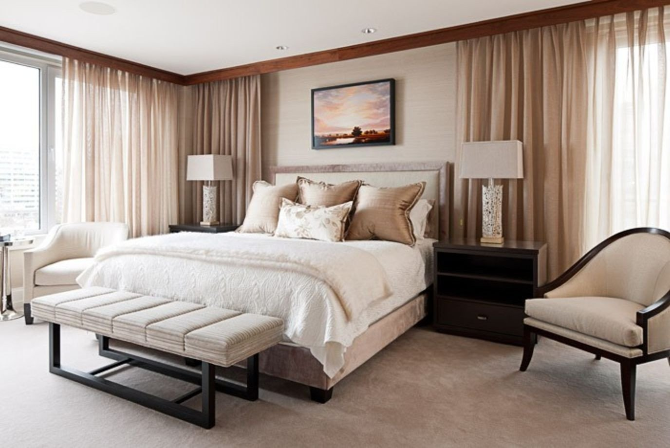 Master Bedroom with Fireplace Elegant Porch