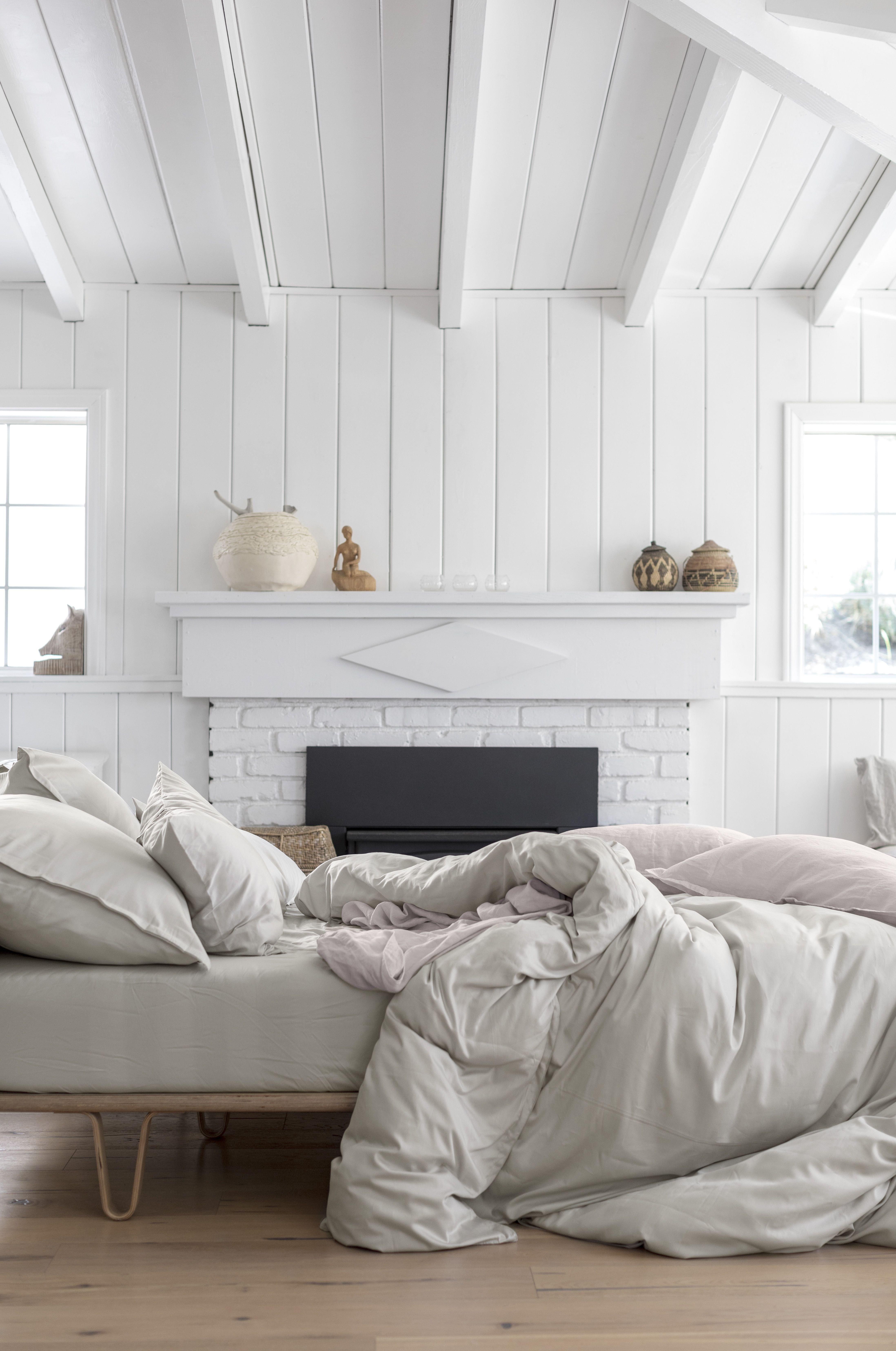 Master Bedroom with Fireplace Luxury Sateen Venice Set