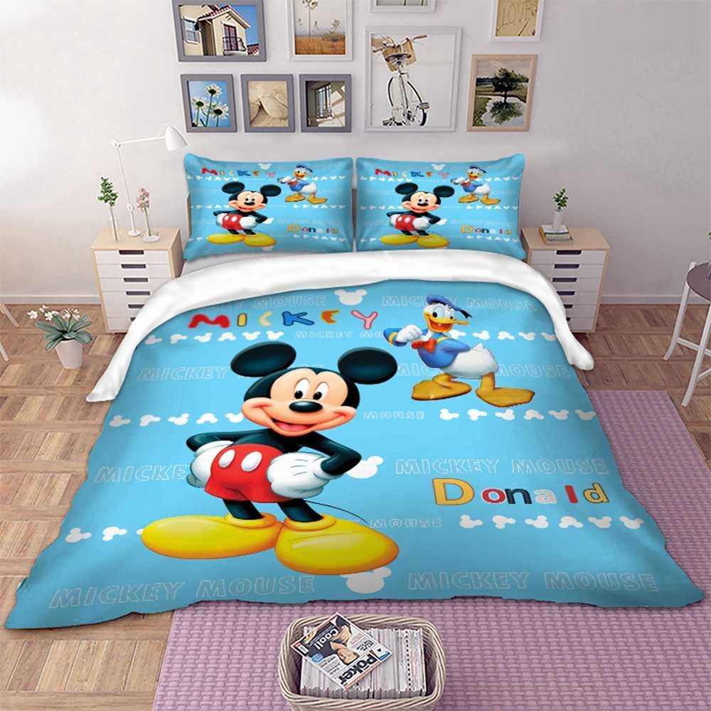 Mickey Mouse Bedroom Decorations Inspirational Disney Mickey Mouse Bedding Set Donald Blue Color Duvet