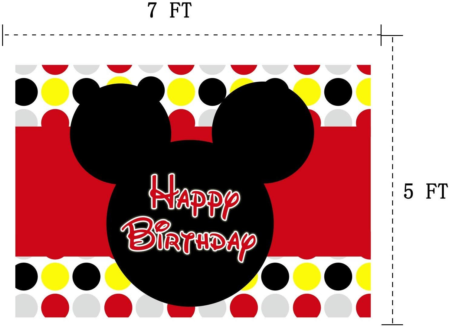 Mickey Mouse Bedroom Decorations Inspirational Zlhcgd 7x5ft Mickey Mouse Graphy Vinyl Background for Kids Birthday Party Backdrops Decoration