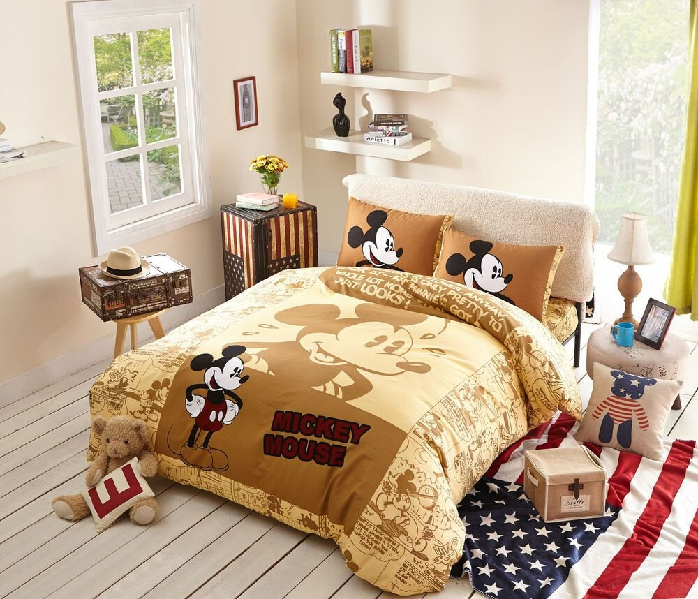 Mickey Mouse Bedroom Decorations Luxury Disney Mickey Mouse Twin Size 9pcs forter Set In A Bag
