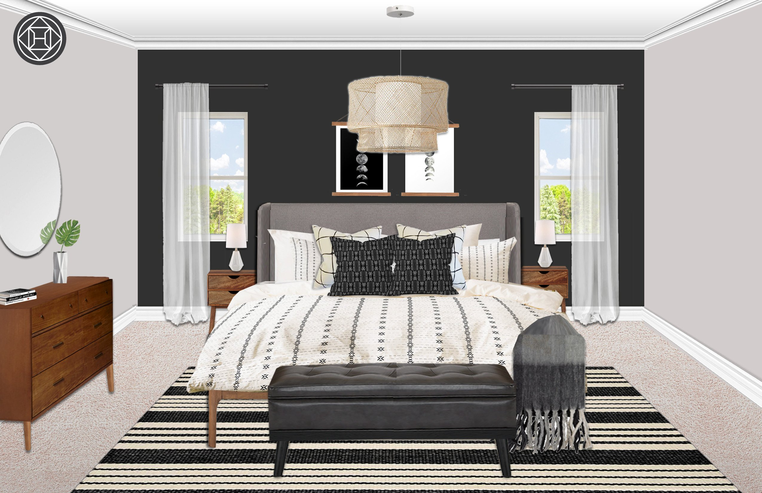 Mid Century Modern Bedroom Furniture New Eclectic Midcentury Modern Bedroom Design by Havenly