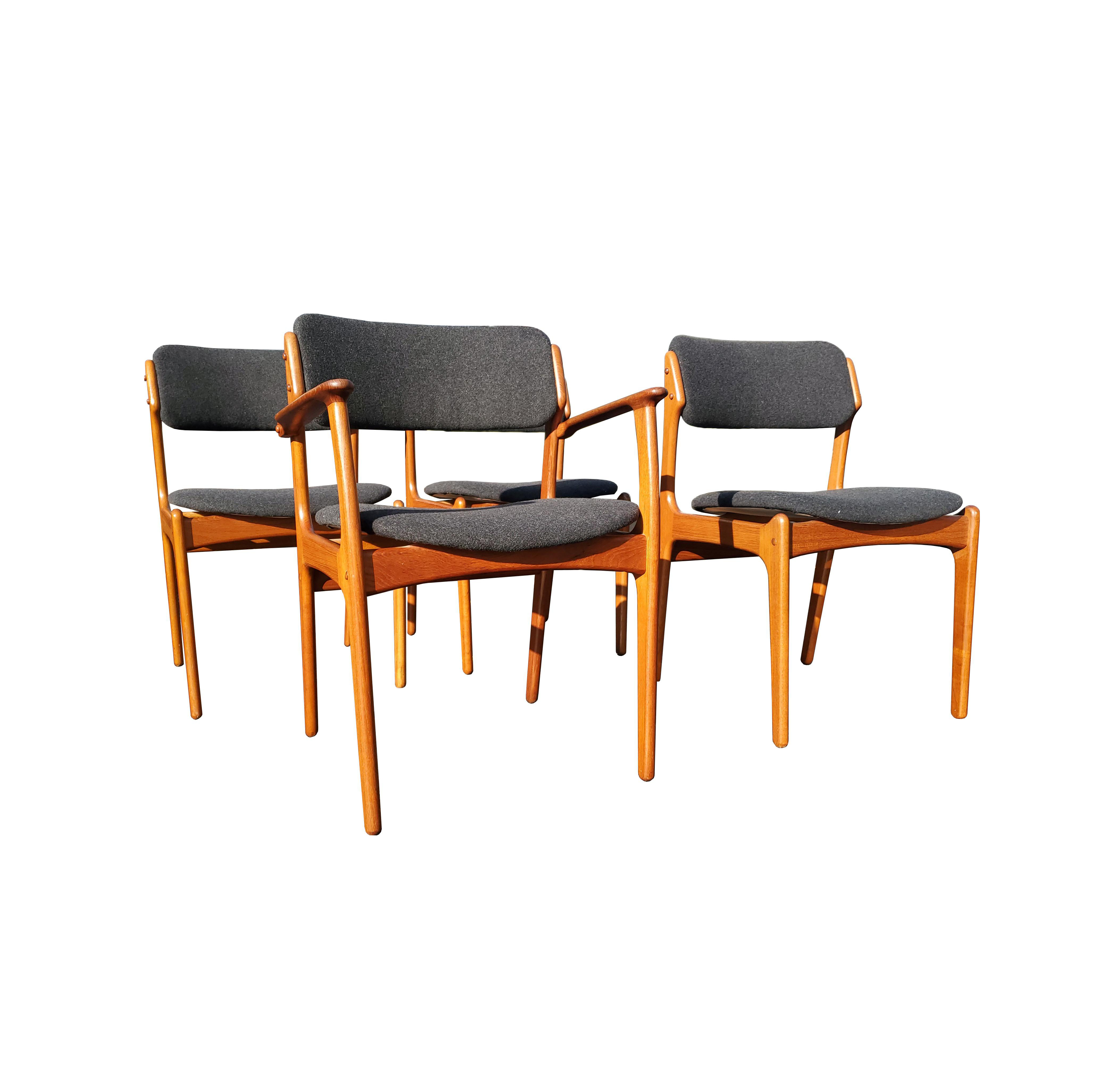 Mid Century Modern Bedroom Furniture Unique A Set Of 4 Erik Buch Danish Mid Century Modern Dining Chairs Model 49