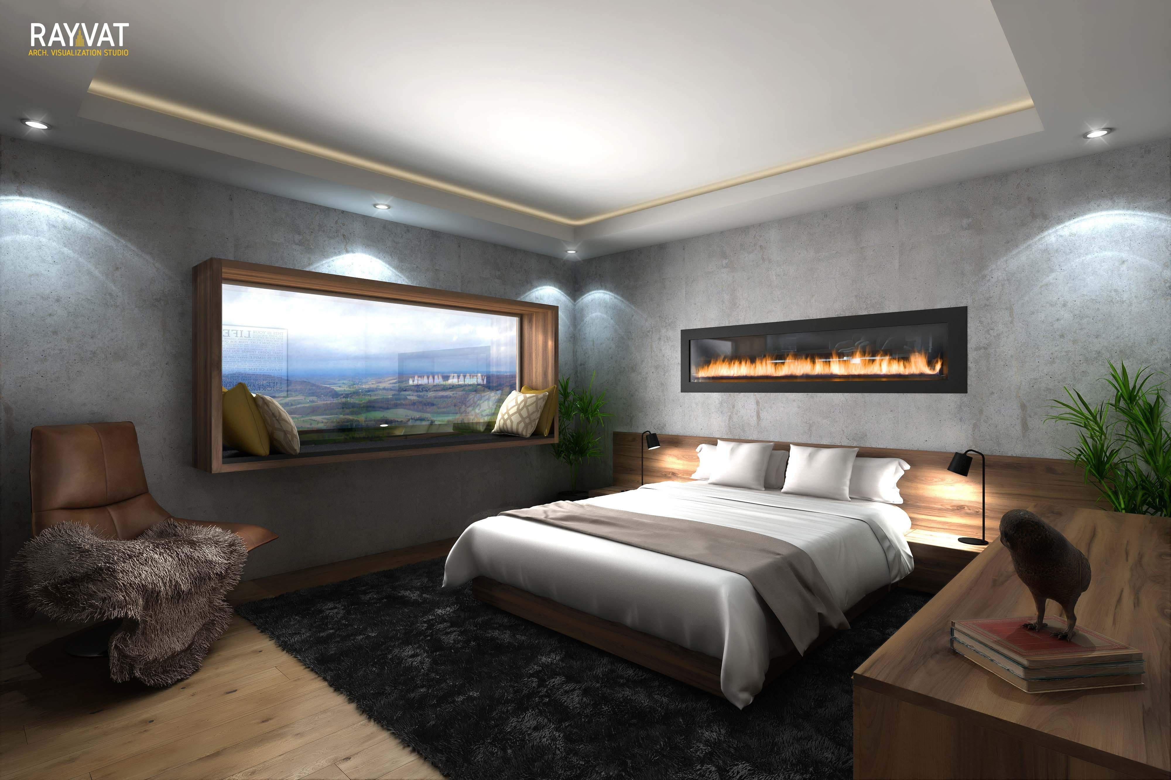 Mid Century Modern Bedroom New 3d Rendering Of A Quirky Mid Century and Nature Inspired