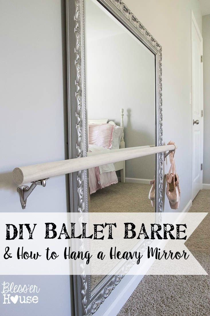 Mini Bar for Bedroom Awesome Diy Ballet Barre and How to Hang A Heavy Mirror
