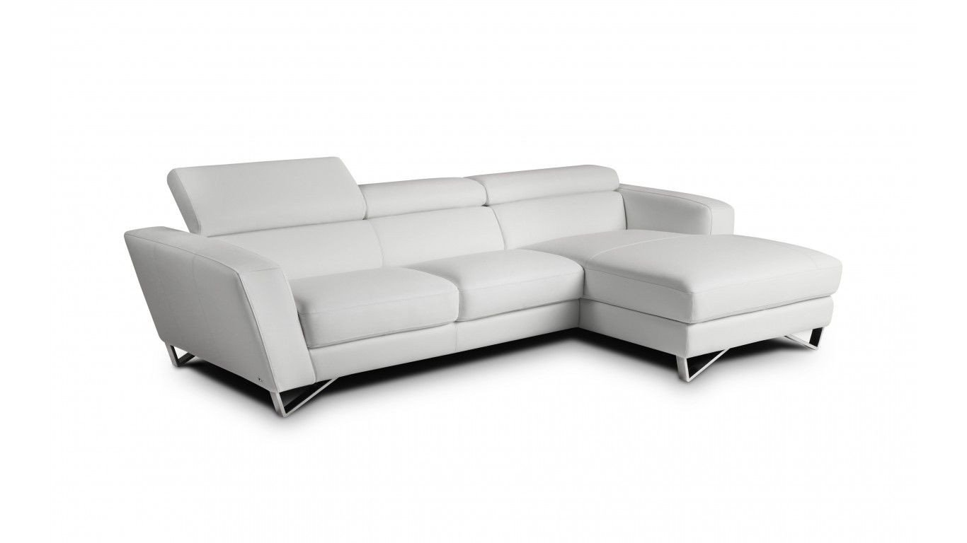 Mini Couch for Bedroom Elegant Rovigo Mini White Italian Leather Sectional with Chaise