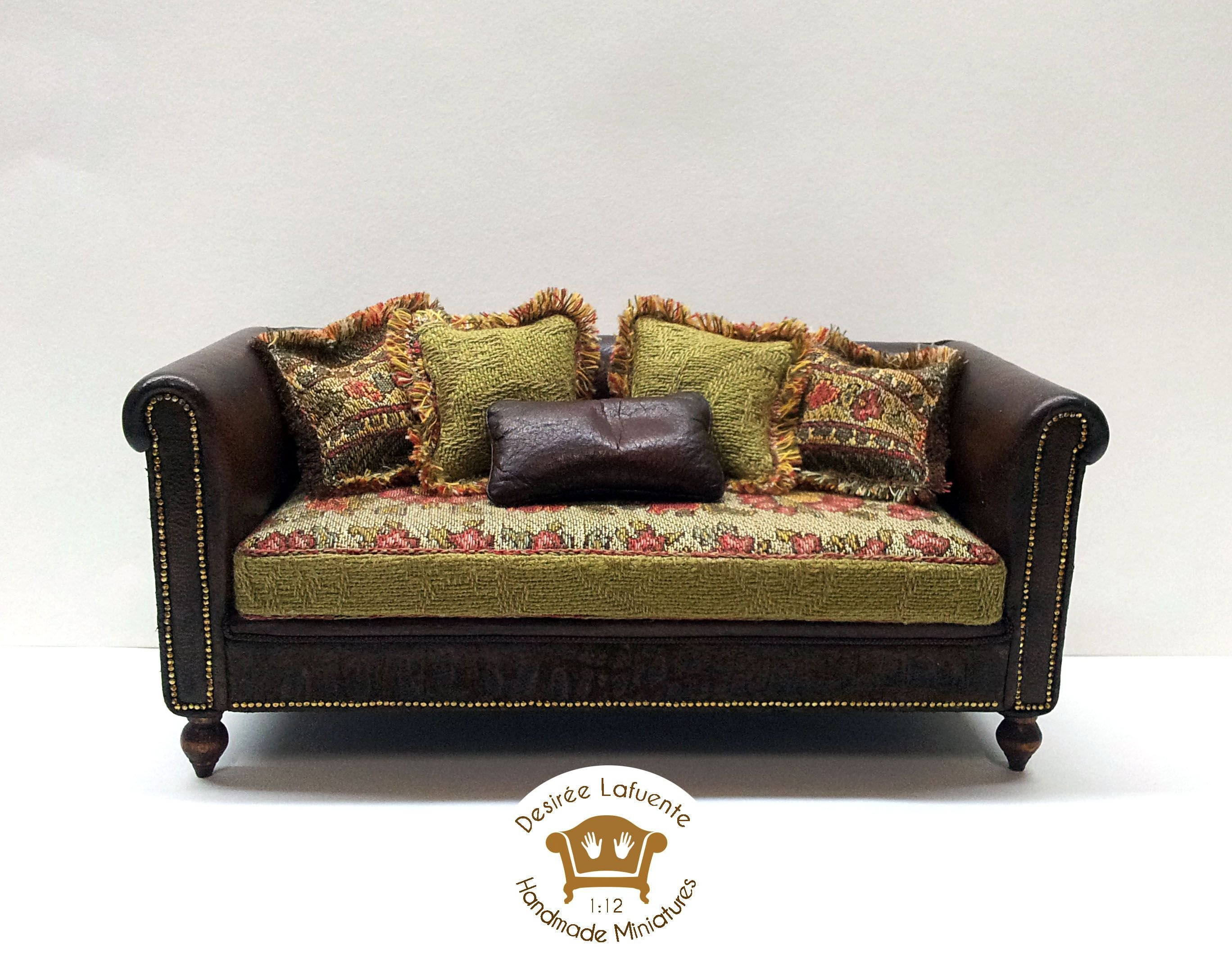 Mini Couch for Bedroom Inspirational 1 12 Scale Miniature sofa Miniatures