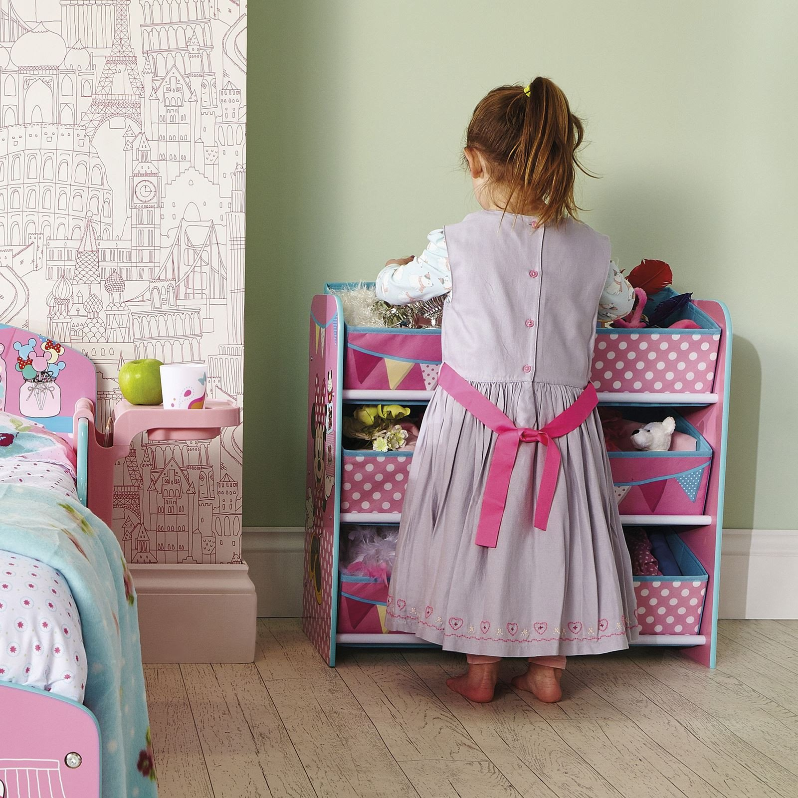 Minnie Mouse Bedroom Furniture Best Of Details About Kids Character 6 Bin Storage Unit Bedroom Furniture Disney Peppa Pj Masks