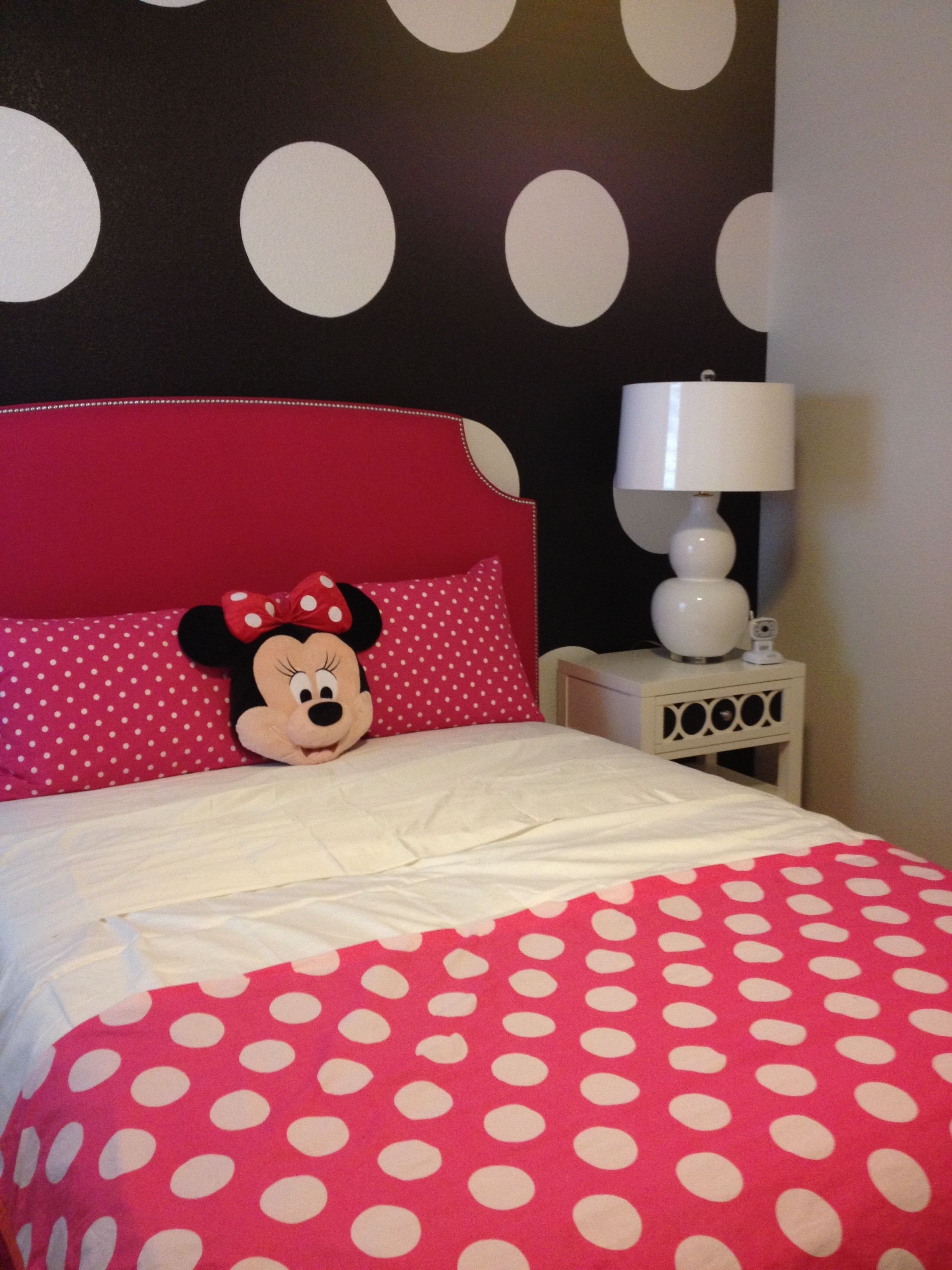 Minnie Mouse Bedroom Furniture New Minnie Mouse Polka Dots