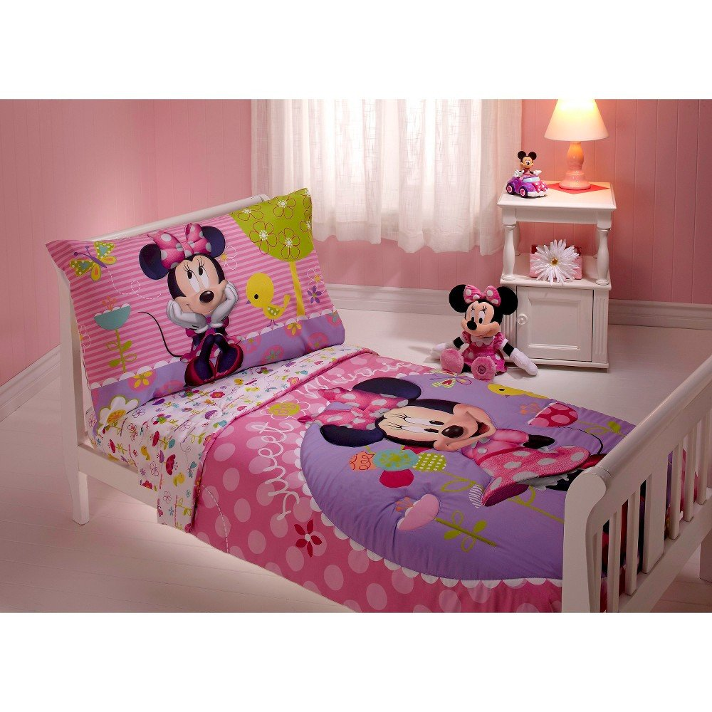 Minnie Mouse Bedroom Set Awesome Minnie Mouse toddler 4 Piece Bed Set Multicolor Mutlicolor