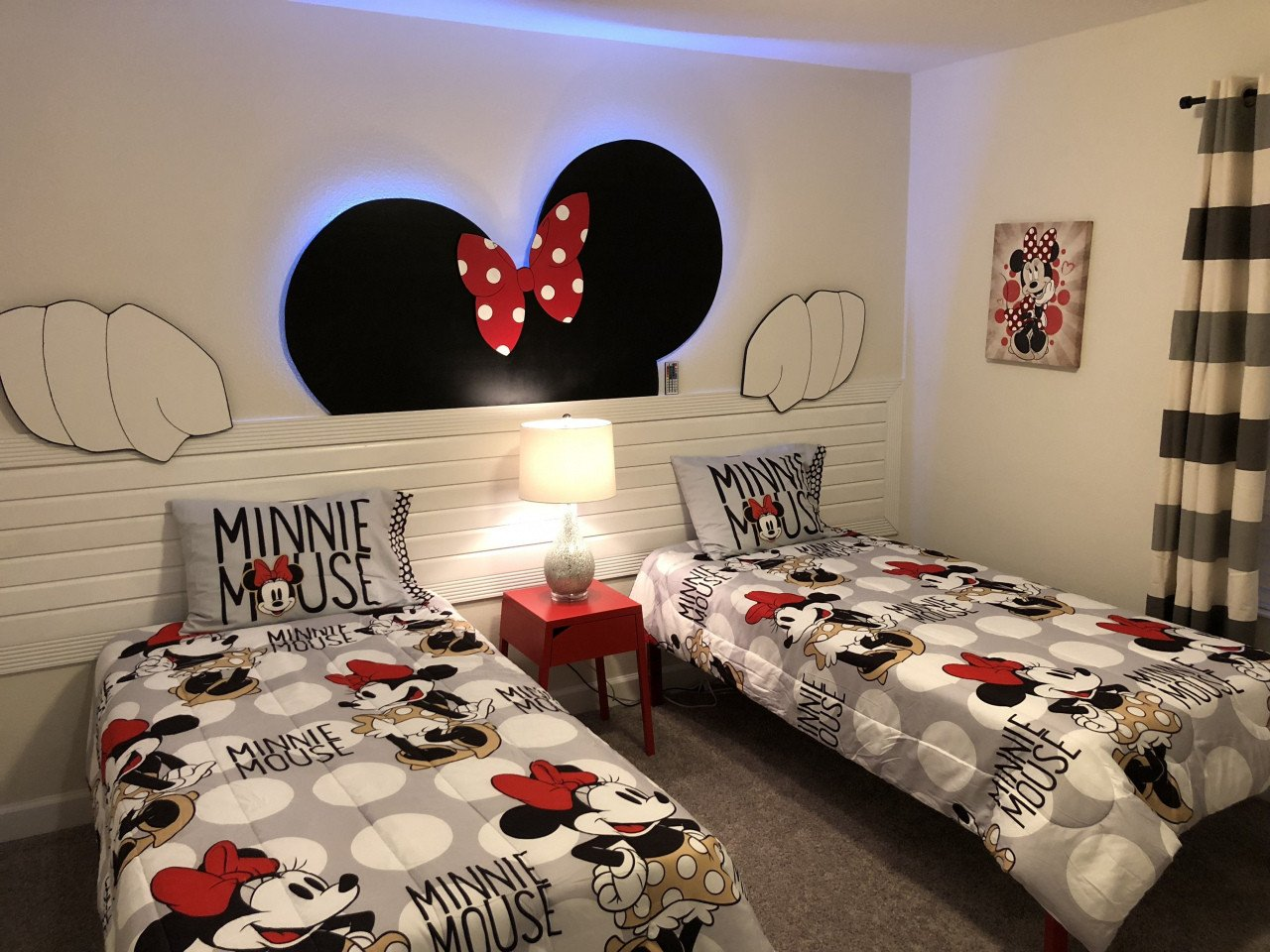 Minnie Mouse Bedroom Set Lovely Mickey Mouse Bedroom Minnie Mouse 3d Led Wall Panel Kids
