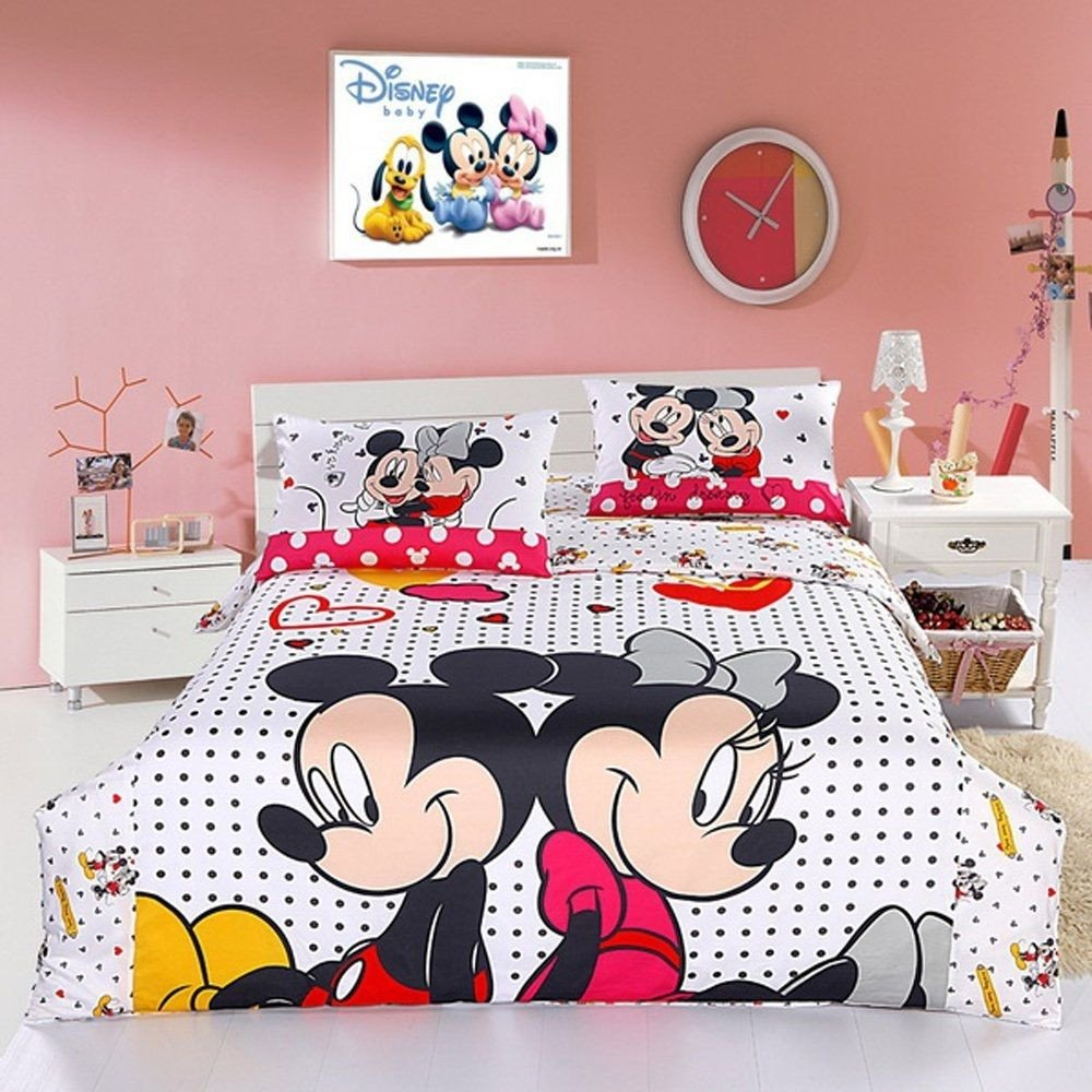 Minnie Mouse Twin Bedroom Set Elegant Mickey and Minnie Mouse Double Bedding Set