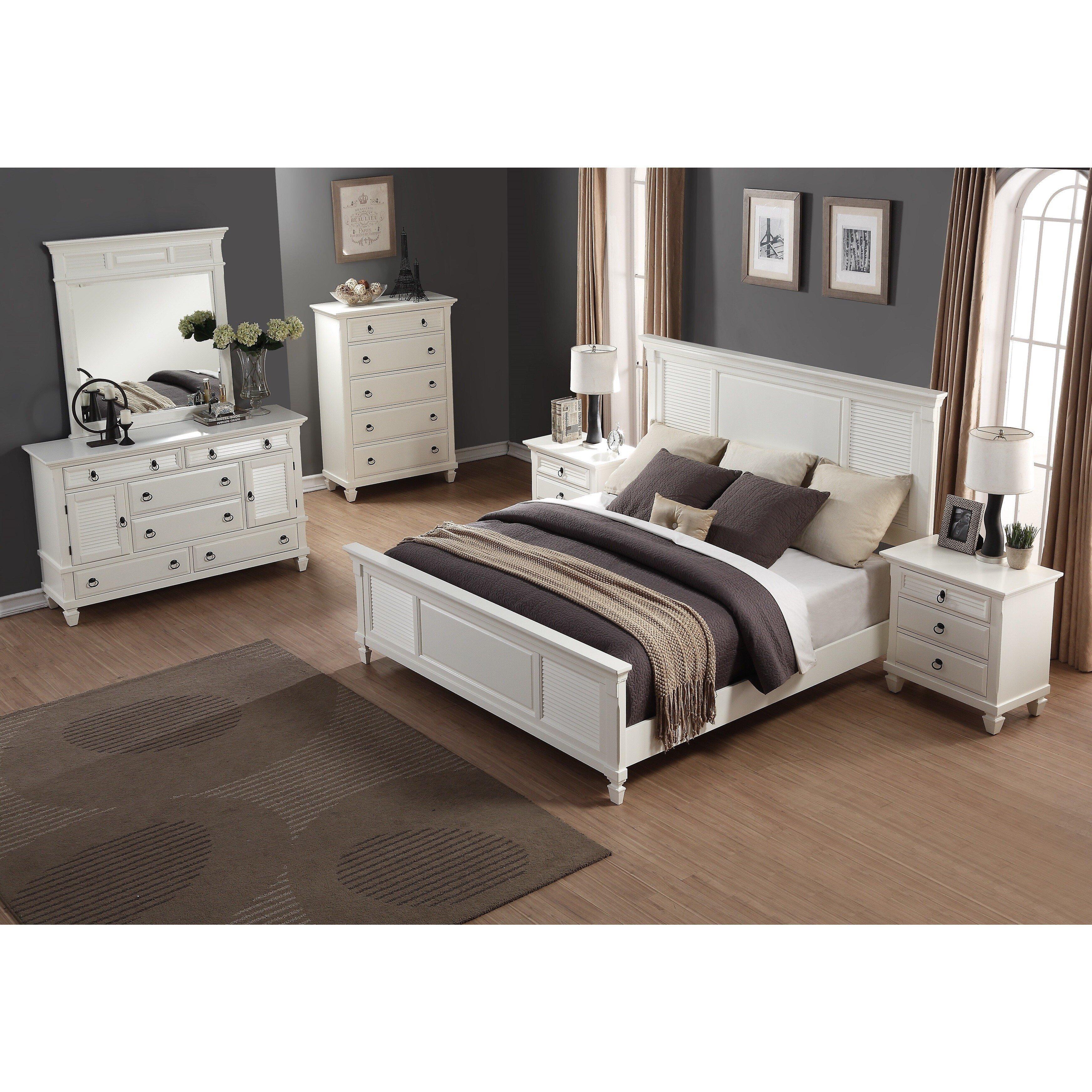 Mirrored Bedroom Furniture Set Unique Regitina White 6 Piece Queen Size Bedroom Furniture Set