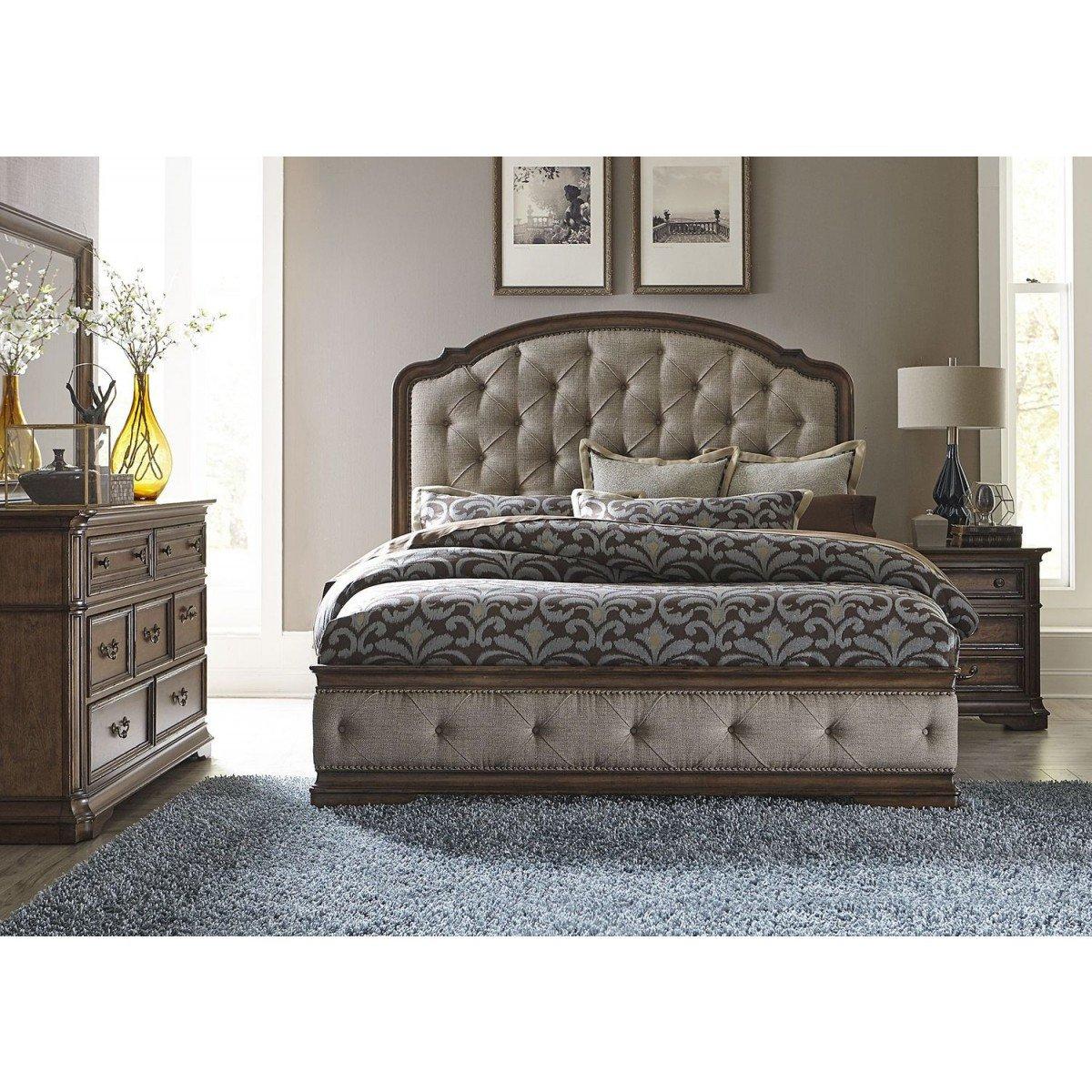 Mirrored Queen Bedroom Set Fresh Liberty Furniture Amelia Queen Upholstered Bedroom Set 487 Br Qub
