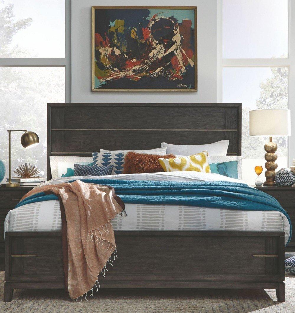 Mirrored Queen Bedroom Set New Proximity Heights Smoke Anthracite Queen Panel Bed