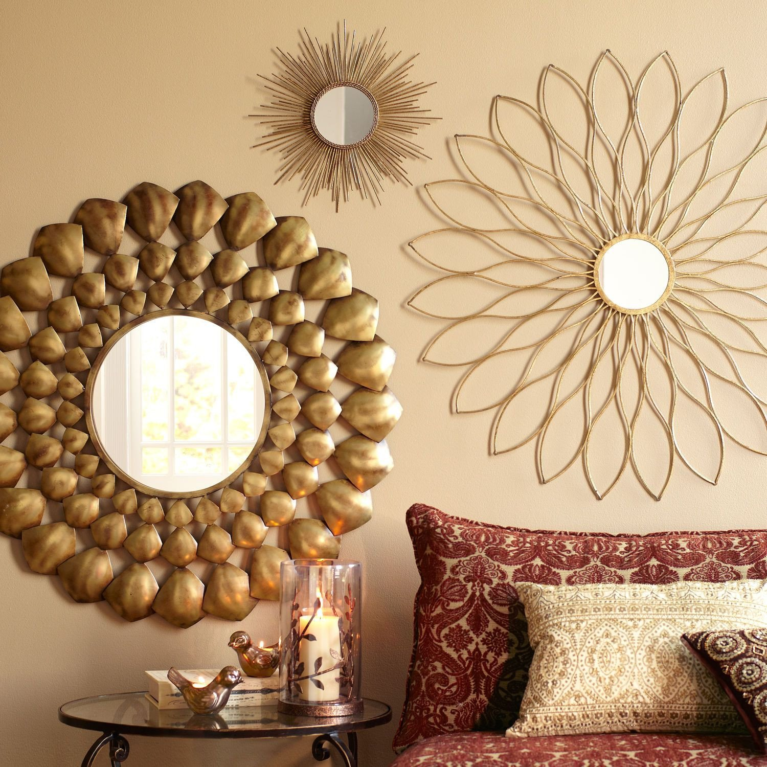 Mirrors for Bedroom Walls Awesome Petite Gold Burst Round Mirror