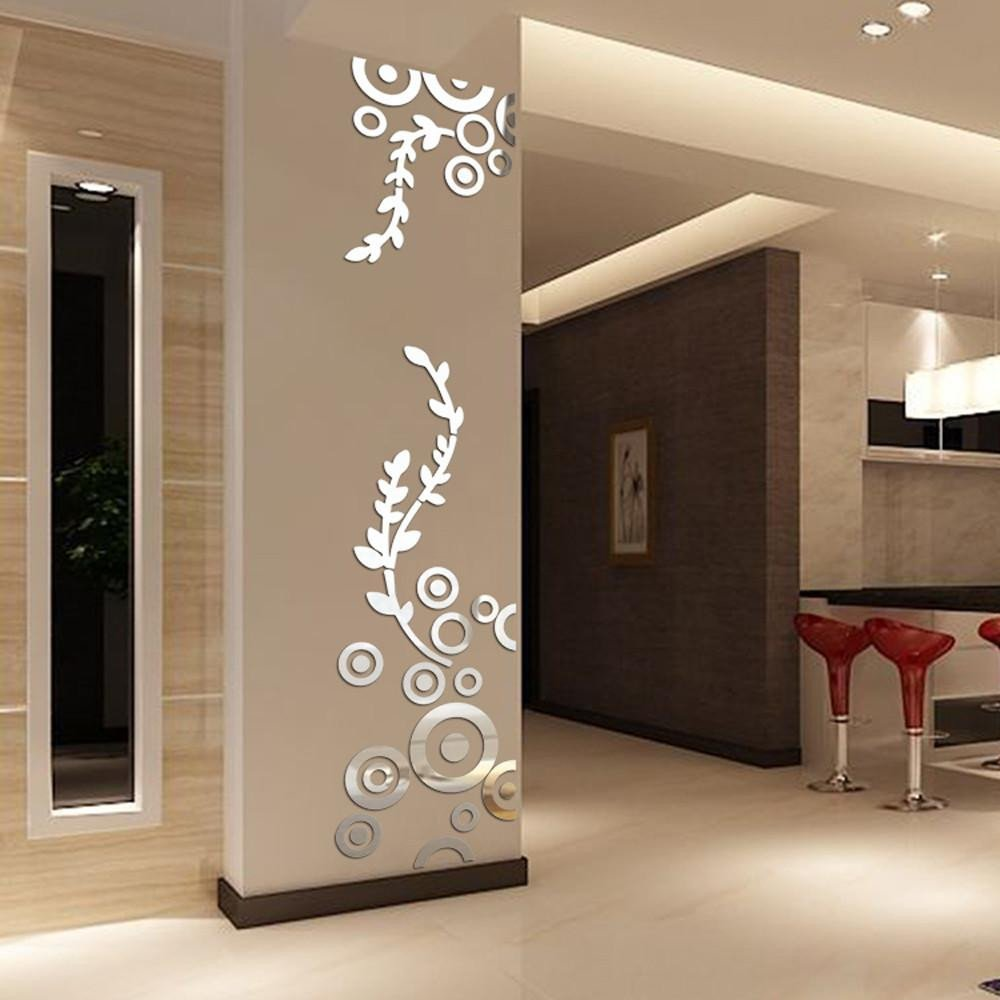 Mirrors for Bedroom Walls Beautiful Creative Circle Ring Acrylic Crystal Mirror Wall Stickers Diy 3d Decal Wall Home Decor Bedroom Living Room Wallpaper Decoration