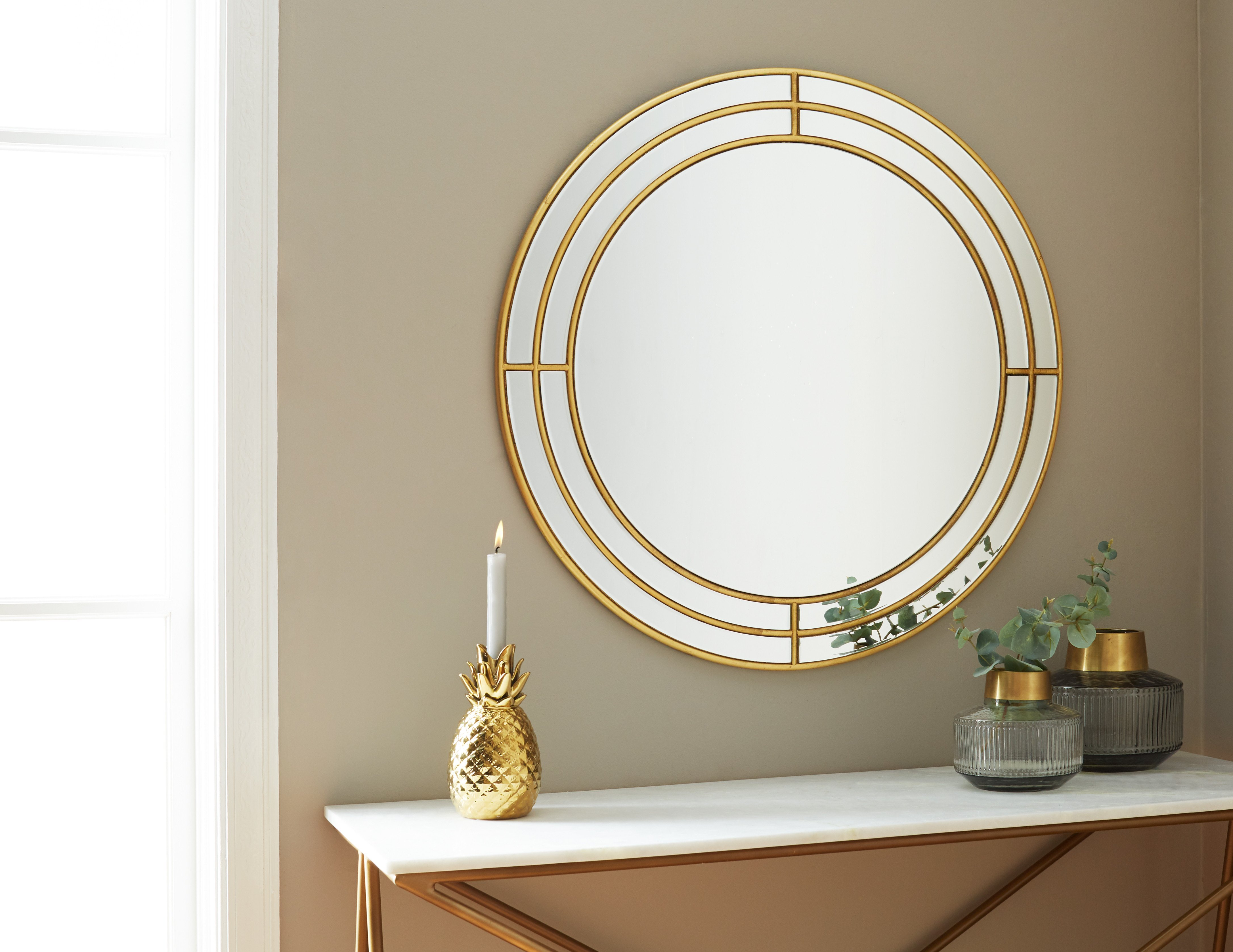 Mirrors for Bedroom Walls Best Of Gladys Gold Mirror 80cm 31