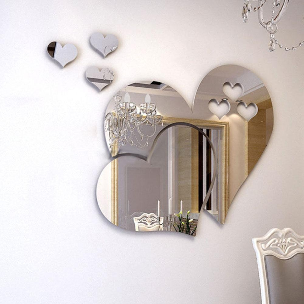 Mirrors for Bedroom Walls Luxury 3d Mirror Love Hearts Wall Sticker Decal Diy Home Room Art Mural Decor Removable Mirror Wall Sticker Home Decor Wall Stickers Vinyl Wall Stickers Wall