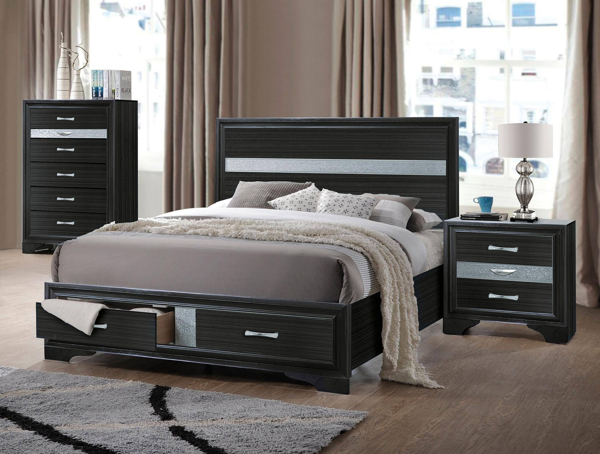 Mission Style Bedroom Furniture Inspirational Black Wood Queen Storage Bedroom Set 4pcs Naima Q Acme