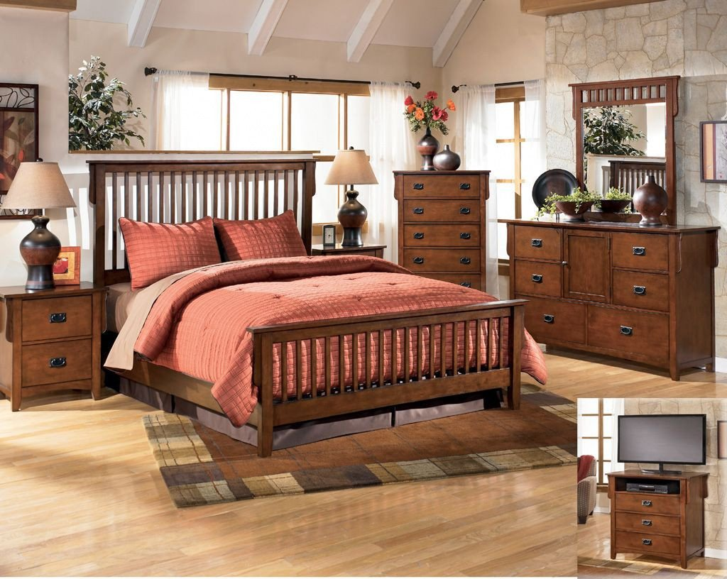 Mission Style Bedroom Furniture New $249 48 Bed Frame Only