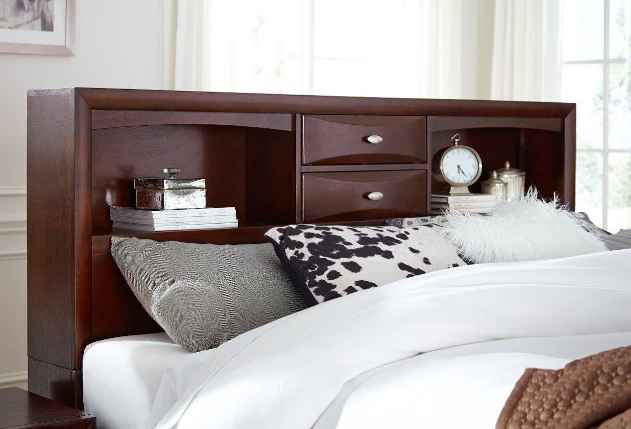 Mission Style Bedroom Furniture New Global Furniture Linda Merlot Traditional Storage Queen Size