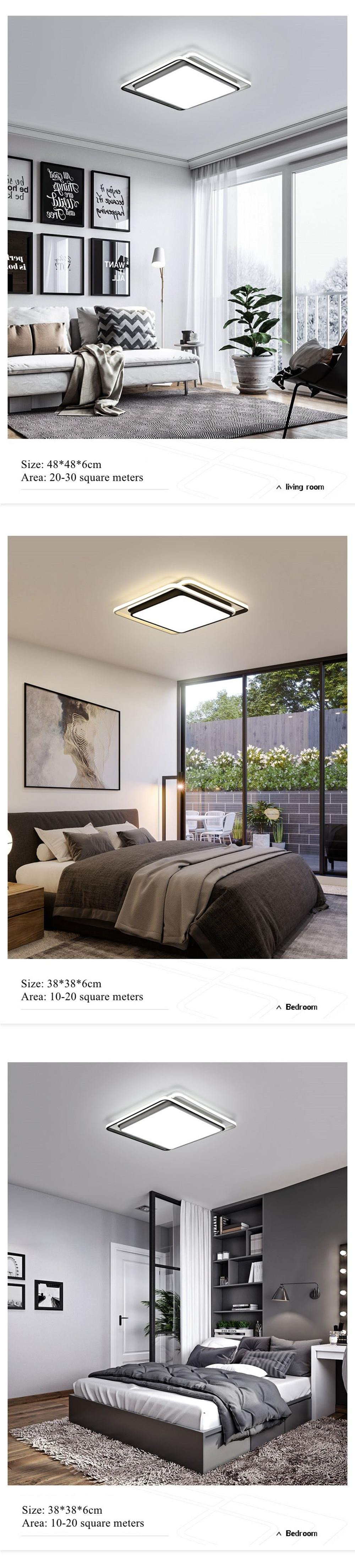 Modern Bedroom Ceiling Light Awesome Us $92 0 Off Dar Surface Mounted Square Ceiling Lights Black White Led Ceiling Light Modern Lamp Living Room Lighting Plafon Led Para Techo In