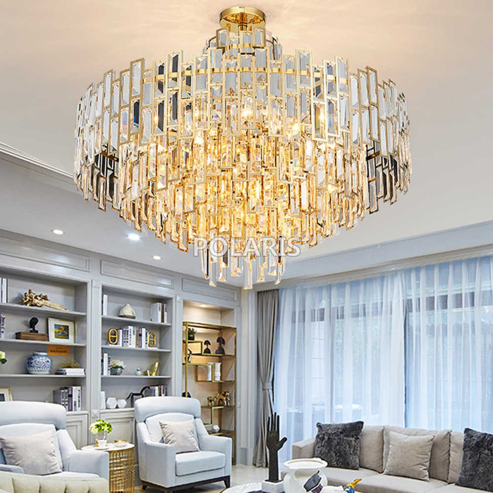 Modern Bedroom Ceiling Light Elegant Modern Luxury Crystal Chandelier Lighting Fixture
