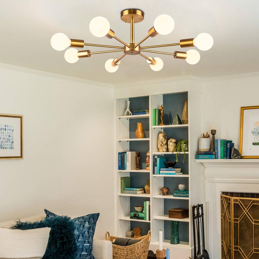 Modern Bedroom Ceiling Light Luxury nordic Modern Branching 6 8 Light Bedroom Semi Flush Mount