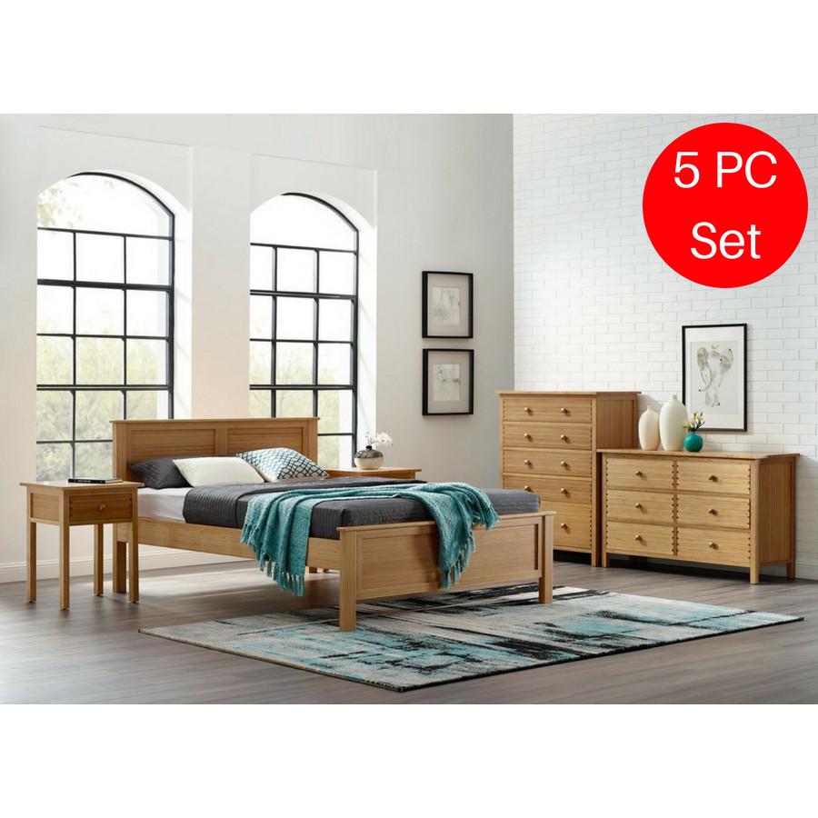 Modern King Size Bedroom Set Beautiful 5pc Greenington Hosta Modern Eastern King Bedroom Set Includes 1 Eastern King Bed 2 Nightstands 2 Dressers